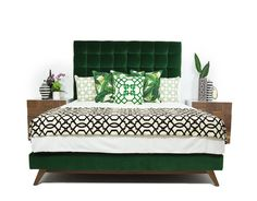 Delano Bed in Como Emerald Velvet | ModShop