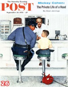 "Love this Rockwell illustration? Let us know by liking or repinning it. (""Runaway,"" September 20,1958)"