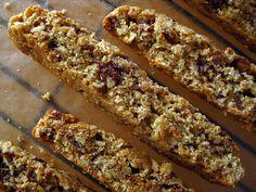 xo breakfast: ginger dark chocolate walnut biscotti