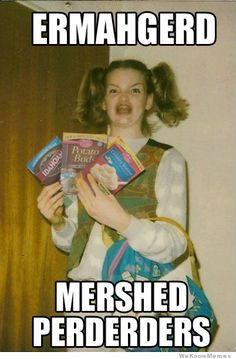 For those of you who can't read ERMAHGERD/DERP its take a look it's in a book reading rainbow Can't Stop Laughing, Laughing So Hard, Funny Quotes, Funny Memes, Jokes, Girl Quotes, I Love To Laugh, Make Me Smile, Reading Rainbow