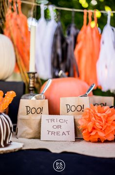 P.S. XO   Beautiful Halloween party table set-up!
