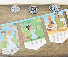 Peter Pan Bunting Children Room Decoration Disney by DomumVindemia, $22.00