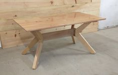 A scandanavian inspried table, constructed from post and beam off-cuts Post And Beam, Modern Table, Beams, Tables, Dining Table, Projects, Furniture, Home Decor, Mesas