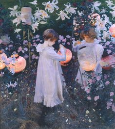 """""""1885-86 Carnation, Lily,"""" Lily, Rose oil on canvas by John Singer Sargent"""