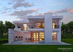 Ein elegantes Einfamilienhaus: moderne Häuser von LK&Projekt GmbH