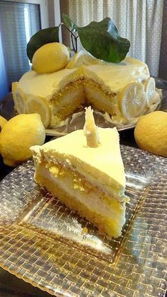 Greek Sweets, Greek Desserts, Lemon Recipes, Greek Recipes, Cookbook Recipes, Cooking Recipes, Lime Cake, Different Cakes, Sweets Cake