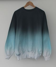 Image of Ice Dip Dye Sweater Teen Fashion Outfits, Outfits For Teens, Girl Outfits, Trendy Hoodies, Cute Sweatshirts, Hooded Sweatshirts, Cute Comfy Outfits, Stylish Outfits, Sweat Style