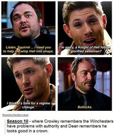 Demon Dean and Crowley