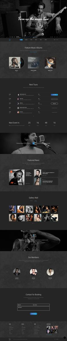 Hugo | Music & Bands Sketch Templates - Sketch Templates | ThemeForest