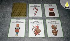 action cards  Christmas