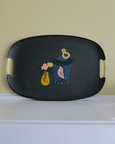 Tilso Vintage 1950's Serving Tray with Bird Cage by TheVintageBug on Etsy https://www.etsy.com/listing/263927306/tilso-vintage-1950s-serving-tray-with