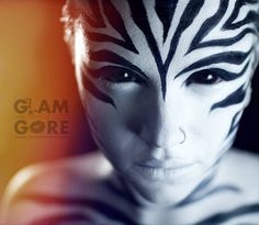 zebra makeup.   For makeup tutorials and other looks: www.youtube.com/GlamAndGoreMakeup www.instagram.com/mykie_