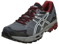 Asics Gel-Kahana 7 Mens T4G0N-9793 Titanium Red Trail Running Shoes Size 7.5