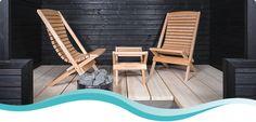 Outdoor Chairs, Outdoor Furniture, Outdoor Decor, Sauna Design, Spa Rooms, Saunas, Home Spa, Amazing Bathrooms, Sun Lounger