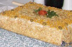 Bolo salgado de pão de forma e frango