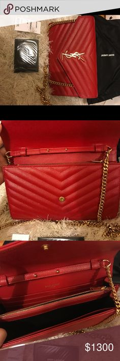 bc104bb3ce8 Saint Laurent clutch chain bag Barely used on events. Need a larger one Yves  Saint Laurent Bags Crossbody Bags