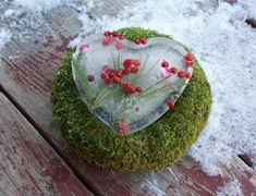 valentines day diy ideas home surprise moos iced heart berries - What can you probably do with ice? Well, design it with berries and some decors like lollipops before freezing it. It would be much better to make a heart-shaped ice for a perfect Valentine's craft.
