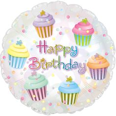 "17"" Happy Birthday Cupcakes Foil Balloon/Case of 5 Tags: Happy Birthday Cupcakes; Foil Balloon; Birthday Decor; birthday decorations;birthday Foil Balloon; https://www.ktsupply.com/products/32786350906/17doublequote-Happy-Birthday-Cupcakes-Foil-BalloonCase-of-5.html"