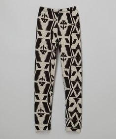 Love this Black Tribal Leggings - Girls by Just Kids on #zulily! #zulilyfinds