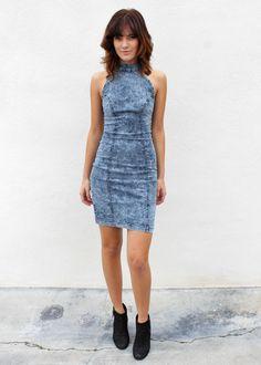Denim Bodycon Dress http://www.melroseintheoc.com/