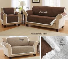 Reversible Furniture Slip Cover Sofa Chair, Couch, Collections Etc, Furniture Covers, Slipcovers, Living Room Decor, Taupe, Home Decor, Drawing Room Decoration