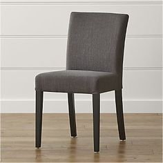 Dining Chair $179 Crate & Barrel- Lowe Smoke Fabric Side Chair