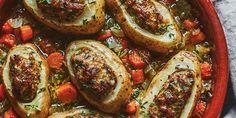 Pommes de terre farcies de Stefano Faita - Véronique Cloutier Yukon Gold, Ground Meat, Beef, Vegetables, Food Time, Simple, Stuffed Potatoes, Italian Sausages
