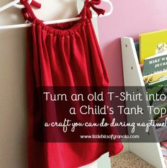 Turn an old t-shirt into a toddler tank top
