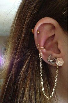 Swallow cartilage piercing earrings #cartilage #earrings www.loveitsomuch.com