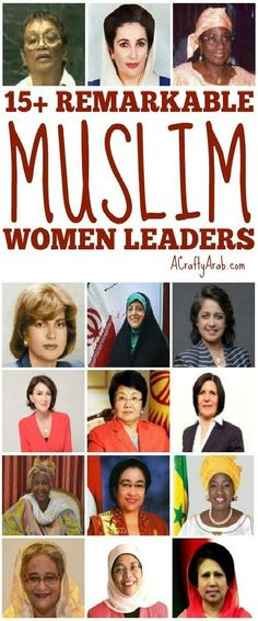 In modern history, the Muslim world has placed 15 women in a leadership role, as the head of their country.This is a list of these remarkable women. Arab Women, Muslim Women, Leadership Roles, Leadership Activities, History Activities, Group Activities, Inspirational Women In History, Modern World History, Women's History