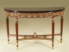 Maitland smith Regency Finished Mahogany Console Table, Gold Leaf - 3430-824