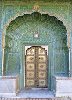 peacock door, jaipur, india