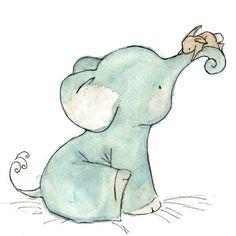 Blue elephant and bunny.... too adorably cute!!