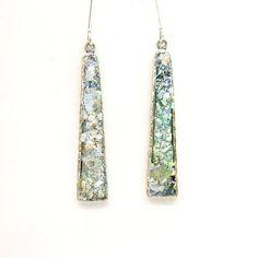 Long roman glass earrings