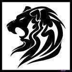 Tribal Tattoo Lion