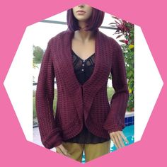 I-N-C SWEATER NEW - Beautiful Brownish/Purpleish Sweater from I-N-C.  Single hook closure in center front. INC International Concepts Sweaters