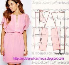 Moldes Moda por Medida: MOLDE DE VESTIDO-164: