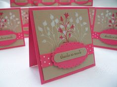 Stamping Moments: Pocket Silhouettes Thank You's.......