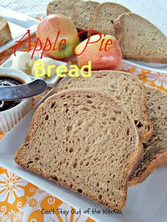 The best Breadmaker Recipes on Frugal Coupon Living. Our round-up of favorite homemade bread recipes you can perfect in the bread machine with simple secret recipes to create the best-tasting bread. Yummy Recipes, Apple Recipes, Yummy Food, Apple Desserts, Bread Maker Recipes, Easy Bread Recipes, Apple Pie Bread, Banana Bread, Vegetable Bread