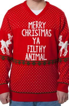 Filthy Animal Home Alone Christmas Sweater: Home Alone Mens Sweaters