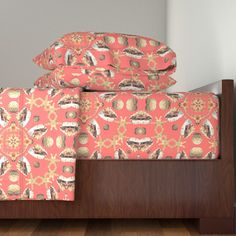 Langshan Sheet Set featuring Shells Kaleidoscope by linda_baysinger_peck | Roostery Home Decor
