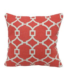 Look what I found on #zulily! Coral Dhurrie Tiles Throw Pillow by Brentwood Originals #zulilyfinds