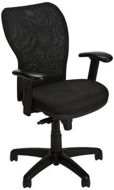 Home Office Chairs, Home Office Furniture, Ergonomic Office Chair, Black Mesh, Black Fabric, Larger, Gallery, Image, Home Decor