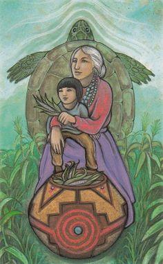 Vision Quest Tarot - Grandmother (= Empress)