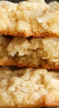 Coconut Cream Cheese Cookies are soft, rich & packed with coconut. This easy coconut cookie recipe is perfect for the coconut lover in your life! Cookie Desserts, Cookie Bars, Cookie Recipes, Dessert Recipes, Cookie Dough, Gourmet Recipes, Sweet Recipes, Baking Recipes, Coconut Cookies