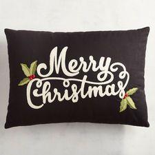 Καλά Χριστούγεννα με μαξιλάρι Holly Lumbar