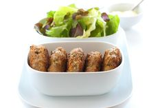 Low Fodmap Baked Mini Greek Meatballs With Lean Beef, Egg, Scallions, Tomato Paste, Spice Mix Vegetarian Meatballs, Greek Meatballs, Kids Cooking Recipes, Real Food Recipes, Vegetarian Recipes, Healthy Recipes, Chicken Rissoles, Rissoles Recipe, Veggie Patties