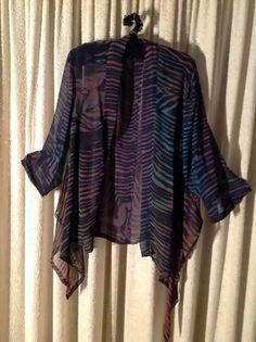Barbara Schey is very experienced in a range of textile techniques. Textiles Techniques, Textile Artists, Creative People, Shibori, Artist Art, Kimono Top, Jacket, Unique, Modern