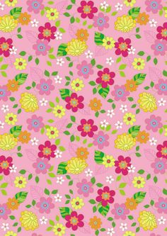Pink floral scrapbook paper