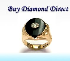Shop onlline this beautiful MENS #RING 13.3 GR 1 ROUND DIAMOND APPROX 0.50CTS. BLACK ONYX CENTER at http://www.buydiamonddirect.com/detail.asp?product_id=XPV254